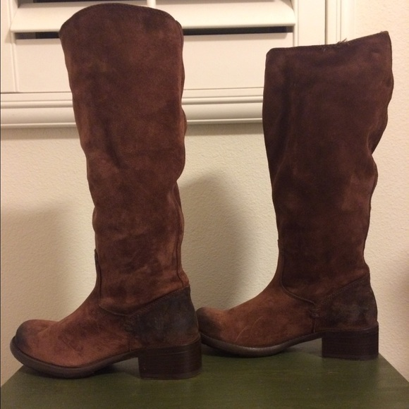 50% off Frye Shoes - Frye Elena Brown Suede Riding Boots from ...
