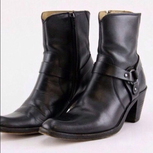 76 frye shoes frye black harness ankle boots from