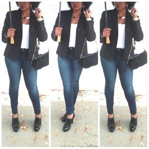 Renfrew Jackets & Blazers - °Renfrew° Black Shiny Floral Blazer