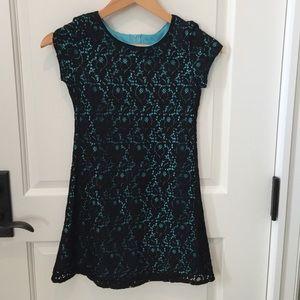 Dresses & Skirts - Black and blue lace dress
