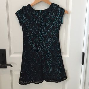 Dresses - Black and blue lace dress