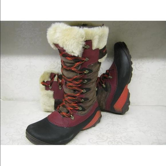 Stiefel & Stiefeletten Damenschuhe Ladies Merrell Fur Topped High Leg Waterproof Boot *winterbelle*