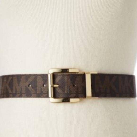 michael kors brown mk belt from s closet on poshmark