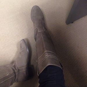 ZARA Taupe suede boots