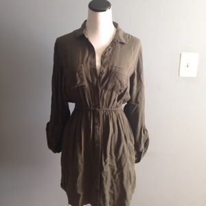Urban Outfitters bdg army green shirt dress