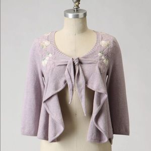 Anthropologie field flower cardigan