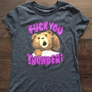 Tops - 👀🙈F@ck You Thunder! T-shirt. Sz M. Dark Gray 💥