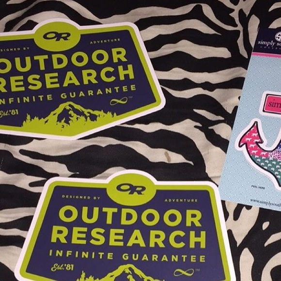 2 preppy outdoor research stickers