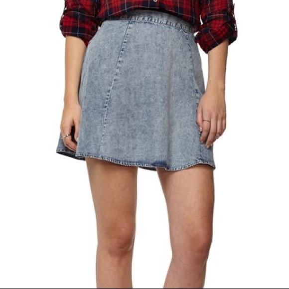 56% off Cotton On Dresses & Skirts - Denim skater skirt- STORE ...