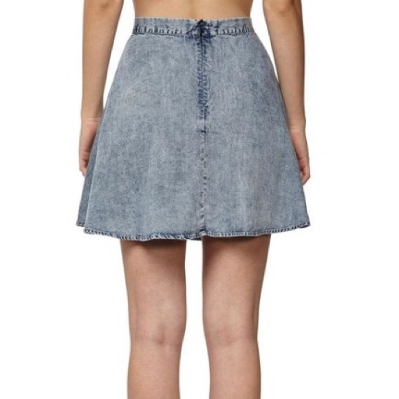 68% off Cotton On Dresses & Skirts - Denim skater skirt from ...