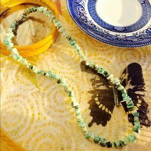 Handmade Jade beaded 18 necklace GORGEOUS