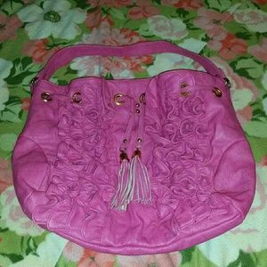 Handbags - Pink Ruffle Purse
