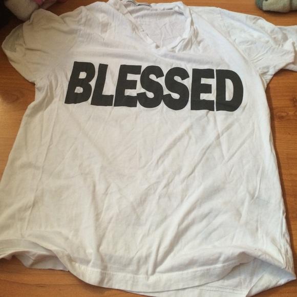 V Neck I Am Blessed Shirt