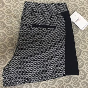 sis • sis black and white print shorts