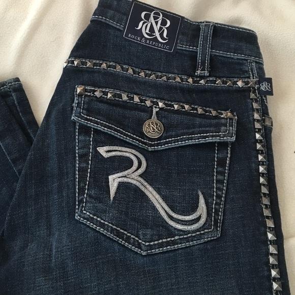 brand new 46bec 872f7 Rock & Republic Kasandra studded jeans
