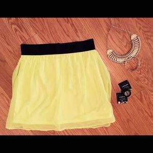 Neon Yellow Mini Skirt