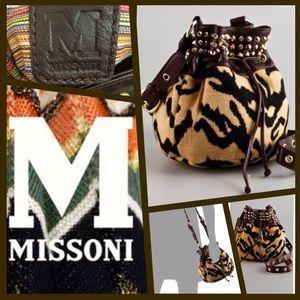 M by Missoni Handbags - M Missoni Studded Tiger Cross Body Bag