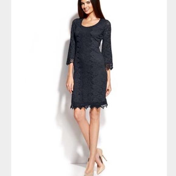 alfani plus size three quarter sleeve dress NWT