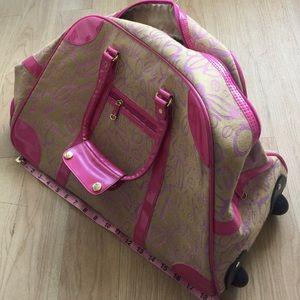 Bebe Bags Pink Travel Weekender Bag Poshmark
