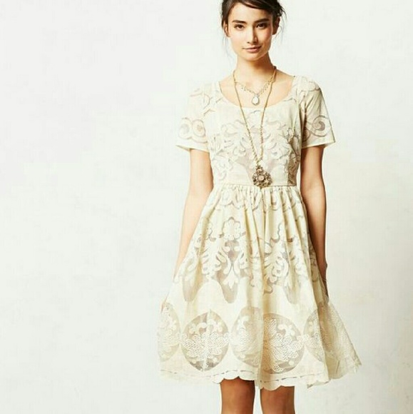 5dbaf6670882c Anthropologie Dresses | Offwhite Lace Dress | Poshmark