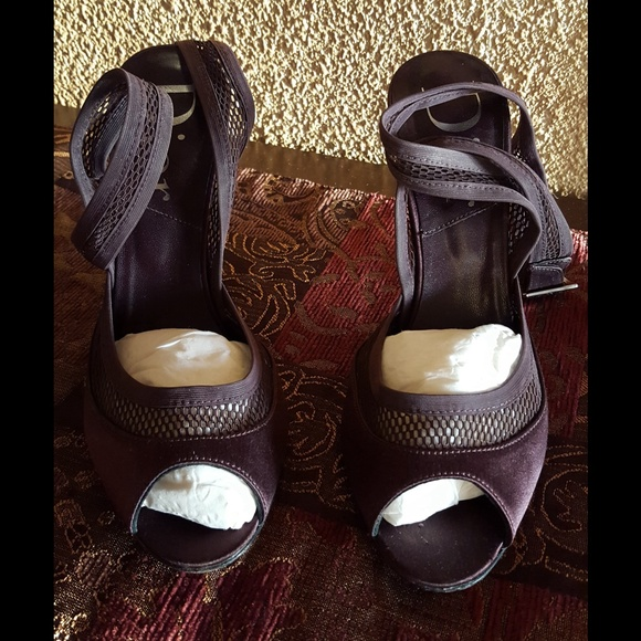 10dfee3c70f Dior Shoes - Christian Dior Plum Heel Sandals