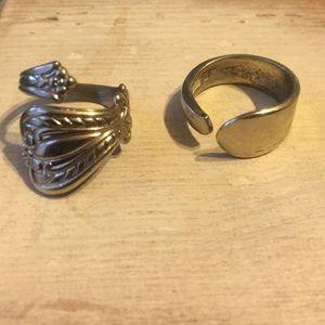 Sterling Silver Vintage Spoon Rings