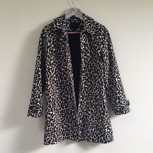 F21 Animal Print Trench Coat
