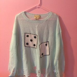Wildfox white label dice sweater