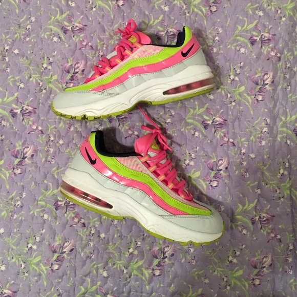 Hot Pink & Neon Green Air Max 95s - SIZE 3Y!