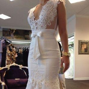 Berta Bridal pre owned mermaid wedding gown dress