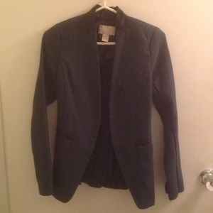 H&M Forest Green Military Style Blazer Jacket Sz 4