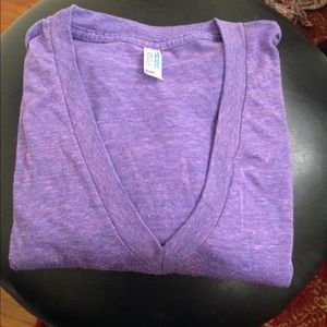 Purple American apparel tri blend v neck size S
