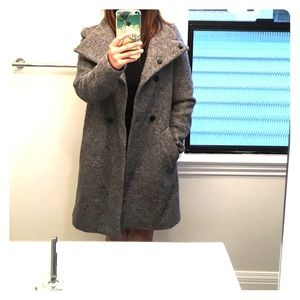 Zara grey wool coat!