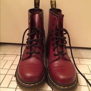 Maroon dr. Martens boots!