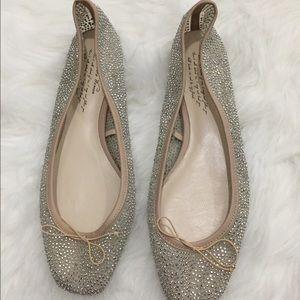 Zara sequin ballet flats with heel
