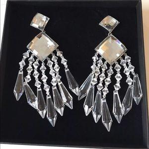 Balmain H&M earrings -- chandelier earrings
