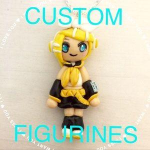 Kawaii Necklaces Custom Anime Figurine