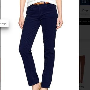 Gap 1969 real straight navy blue cords