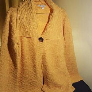 Ladies one button sweater size medium