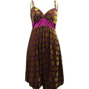 Voom by Joy Han Dresses & Skirts - Voom by Joy Han Silk Polka Dress M