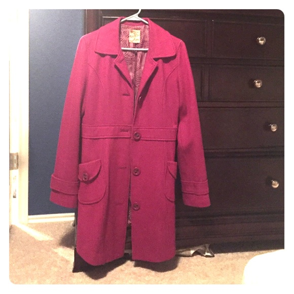 80% off Tulle Jackets & Blazers - Dark pink coat from Jami's ...