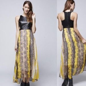 Edgy but Feminine Maxi Dress