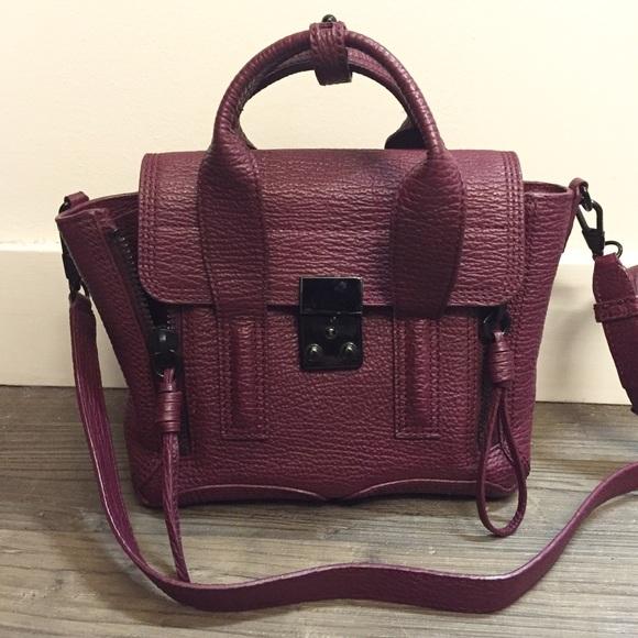 ba938d3e20 3.1 Phillip Lim Handbags - 3.1 Phillip Lim Mini Pashli Satchel (Maroon Black )
