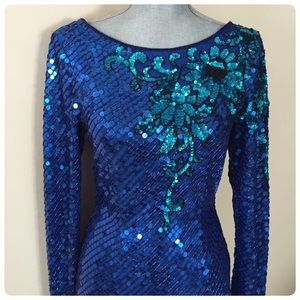 Stunning Vntg sequin/bead dress!!!