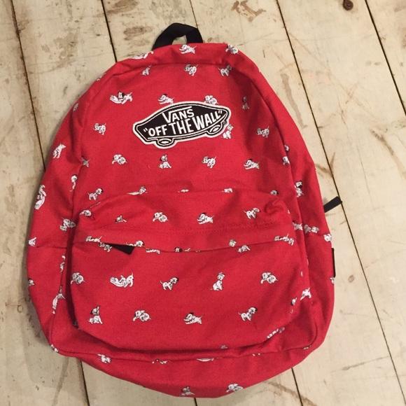 403063d997a NWOT Vans 101 Dalmatians Disney backpack. M 5653f6f32ba50a32640042a9
