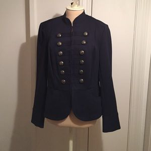 /Navy military style jacket with flair!