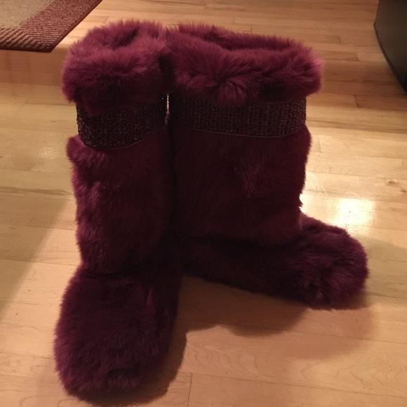 D\u0026G Shoes   Womens Faux Fur Boots