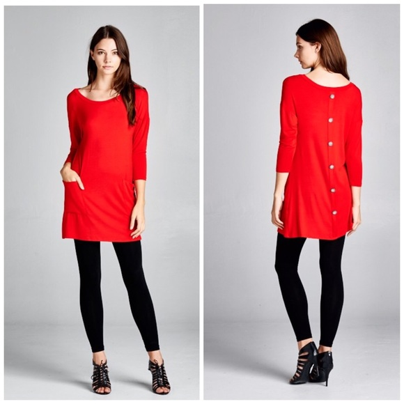 40% off Threads & Trends Dresses & Skirts - Crimson Red Tunic ...