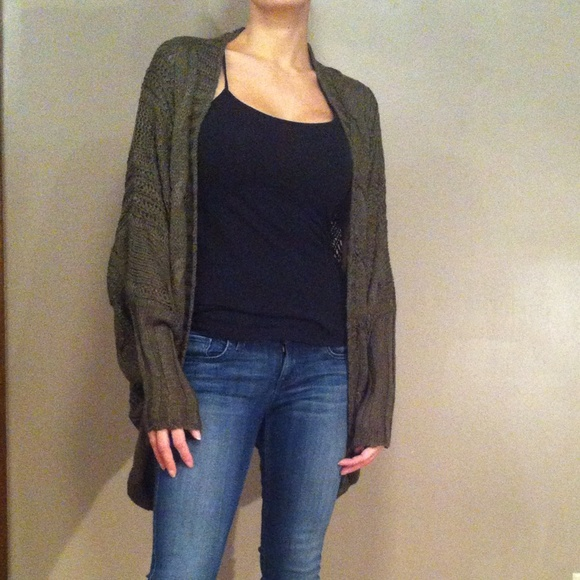 ✨NEW LIST✨Olive Green Open Front Cardigan b1ad18b0e