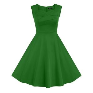 Dresses & Skirts - Green 50's vintage dress